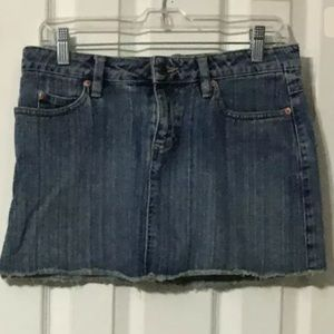Old Navy Denim mini skirt raw hem